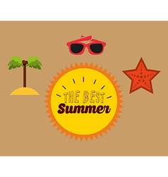 Best summer design vector