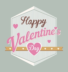 Happy valentines day hand lettering typographical vector