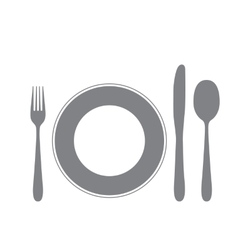 Cutlery isolated on white vector