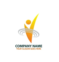 Human signal logo icon graphic vector