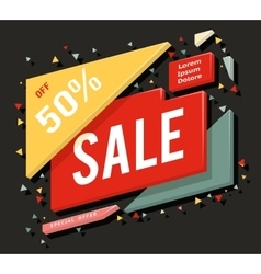 Big sale advertising banner layout special offer vector