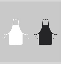 Black and white kitchen aprons vector