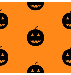 Black silhouette funny smiling pumpkins Cute vector image