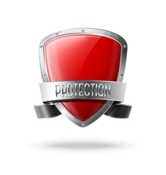 Blank red realistic glossy protection shield with vector