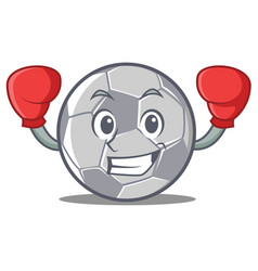 boxing football character cartoon style vector image