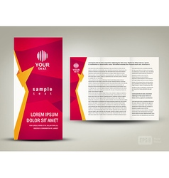 Brochure folder design cmyk no transparent vector