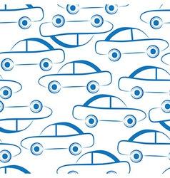 Car transport seamless vector image