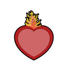 catholic sacred heart symbol vector image