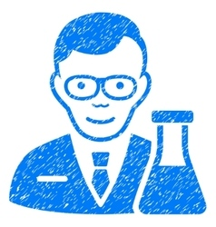 Chemist grainy texture icon vector