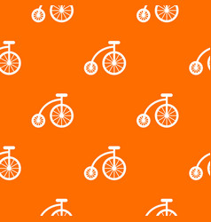 Children bicycle pattern seamless vector