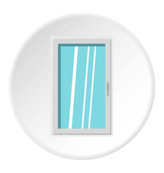 closed white window icon circle vector image vector image