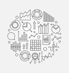 Data analytics outline vector