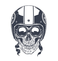 Dotwork rider skull vector
