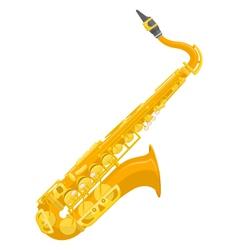 Flat design colored copper brass alto saxophone vector