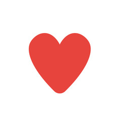 Flat design style of heart vector