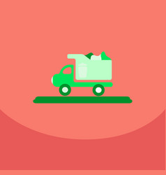 Garbage collection garbage truck management vector