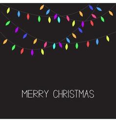 Glowing Christmas Lights Xmas Merry Christmas vector image