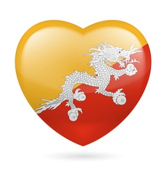 Heart icon of bhutan vector
