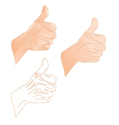 Human hand right vector