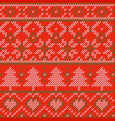 Knitted christmas background seamless pattern vector