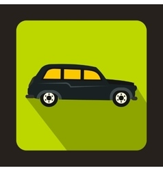 London black cab icon flat style vector image