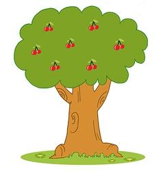 Lush cherry tree vector