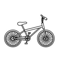 Monochrome contour of sport bike in white vector