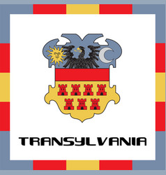 official government ensigns of transylvania vector image vector image