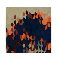 Orange blue abstract low polygon background vector