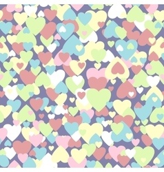 pastel colored hearts pattern vector image