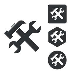 Repairs icon set monochrome vector image vector image