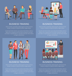 set of business meeting icons vector image