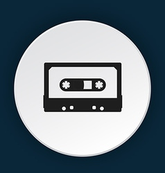 Tape cassette icon vector