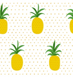 Tropical pattern pineapples retro background vector