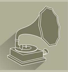 Vintage jukebox icon vector