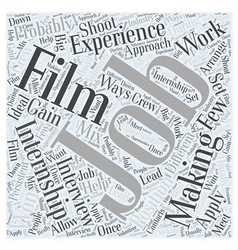 What about internships in film making word cloud vector