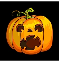 Holiday halloween pumpkin jack lantern vector