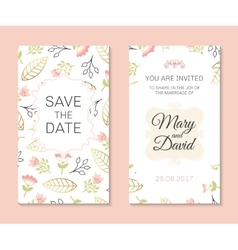 Romantic cards template vector