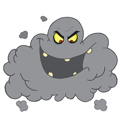 Evil ash cloud laughing vector