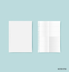 Blank catalog magazinesbook mock up on blue vector
