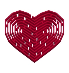 Labyrinth in a shape of heart vector