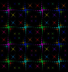 Pattern of the color crosses vector