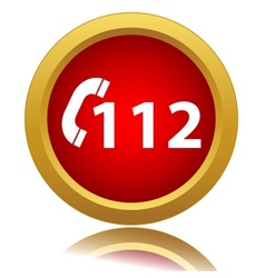 112 red icon vector