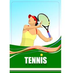 al 0712 tennis 03 vector image