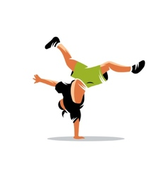Breakdance sign vector