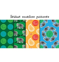 Seamless indian patterns set vector
