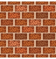 Brown brick wall seamless pattern vector