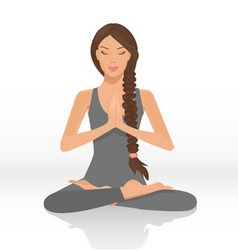Yoga lotus position vector