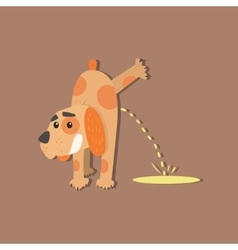 Dog peeing image vector