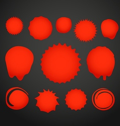 Different color ink blots Template for a text vector image